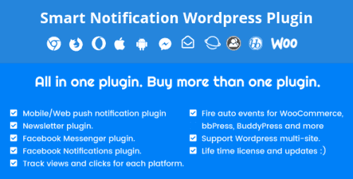Smart Notification Wordpress Plugin. Web & Mobile Push