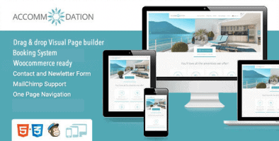 Accommodation – Hotel Resorts Booking Wordpress Theme