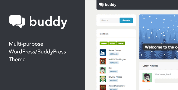 Buddy – Multi-Purpose WordPress Buddypress Theme