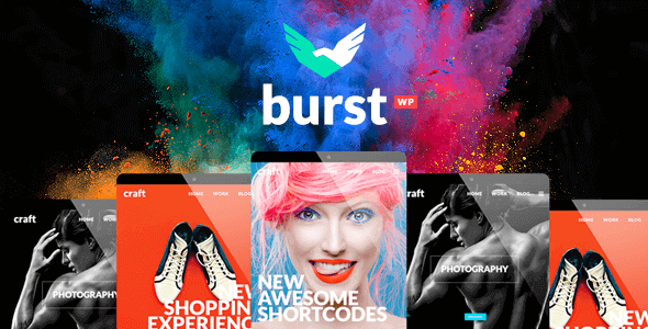 Burst – A Bold And Vibrant WordPress Theme
