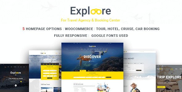 Exploore – Travel Exploration Booking Wordpress Theme