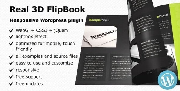 Real 3D Flipbook – Responsive Wordpress Plugin