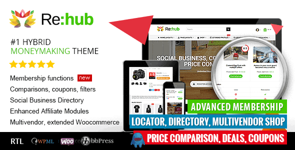 Rehub – Directory Shop Coupon Affiliate Theme